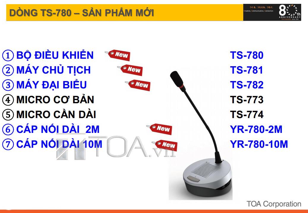 TOA TS-780 hệ thống hội thảo