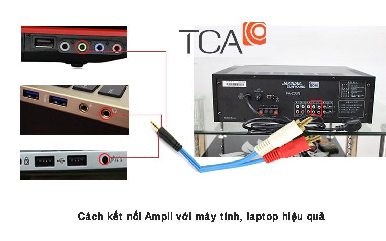 Cách kết nối Ampli với máy tính