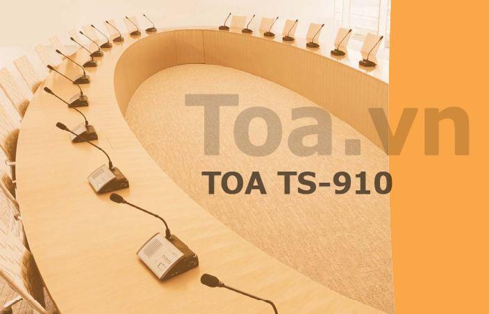 Hệ thống âm thanh hội thảo không dây TOA TS-910