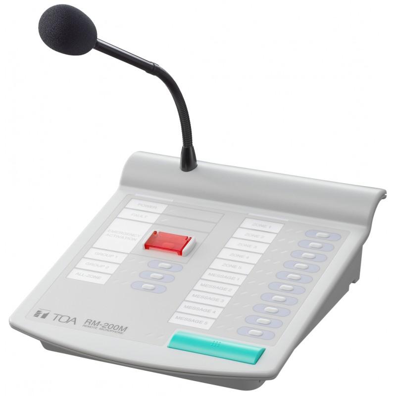 Hướng dẫn sử dụng Micro thông báo chọn vùng TOA RM-200M